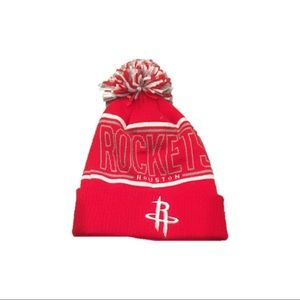 NWOT Houston Rockets Adidas Pom Beanie Hat Cap